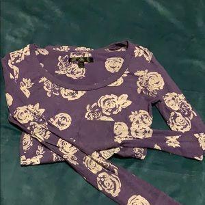 Purple and gray long sleeve tee.
